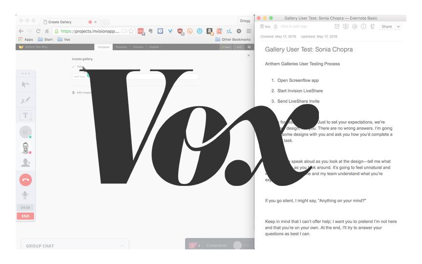 Vox Remote Testing Workflow